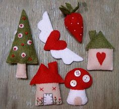 cute little felted ornaments