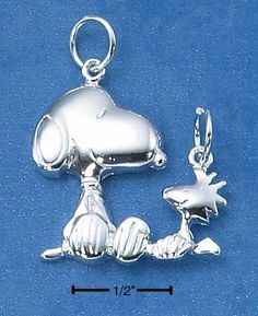 Snoopy and Woodstock charms