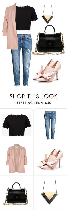 """""""crop top"""" by iamkasia ❤ liked on Polyvore featuring Ted Baker, H&M, River Island and Dolce&Gabbana"""