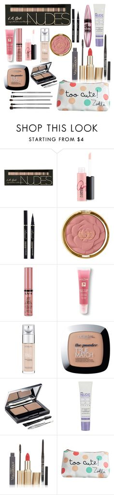 """Teen make up starter kit ❤️"" by southernsass12 ❤ liked on Polyvore featuring beauty, MAC Cosmetics, Maybelline, Milani, NYX, Lancôme, L'Oréal Paris and esum"