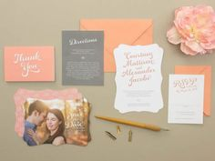 Convite de casamento personalizado com fotografias dos noivos