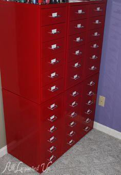 Ikea helmer nail polish storage for Muebles en polan