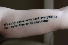 Neat Epigrammatic Tattoo For Men