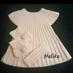 Polly Dress Knitting pattern by Suzie Sparkles Girls Knitted Dress, Knit Baby Dress, Knitted Baby Clothes, Baby Hats Knitting, Baby Knitting Patterns, Knitting Designs, Baby Cardigan, Baby Pullover, Girls Sweaters