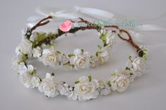 Mommy and Me Flower Crown set Mother and Baby by SweetLittleMelody  #mommyandmeflowercrown #flowercrowns #ivoryflowercrown #flowercrown #whiteflowercrowns #weddingflowercrowns #weddingcrown #floralcrown #whitefloralcrown #bridalcrown #bridalflowercrown #brideflowercrown #bridefloralcrown