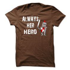 #camera #grandma #grandpa #lifestyle #military #states... Nice T-shirts (Deal of the Day) Always Her Hero . BazaarTshirts  Design Description: Always Her Hero is for any husband who likes to be a hero to his spouse. Using a grunge font and a knight in shining armor, this might be successful with any spouse. ... - http://tshirt-bazaar.com/lifestyle/deal-of-the-day-always-her-hero-bazaartshirts.html