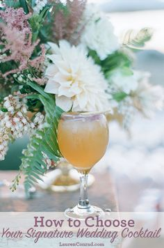 Lauren Conrad's Signature Wedding Cocktail - Apple of My Eye