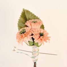 vintage millinery boutonniere 'PEACH BLOSSOM' by whichgoose, $18.00