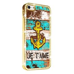 Anchor Blue Je Taime Cute iPhone 5/5S Gold Case Luxury Style Cover Diamond Crystal Rhinestone Bling Hard Gold Case Cover for iPhone 5 and 5S PAZATO http://www.amazon.com/dp/B00NPNFK4K/ref=cm_sw_r_pi_dp_leziub0GZQ7MC