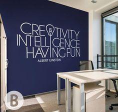 Creativity Is Einstein Quote Motivational Vinyl Wall Art