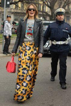 Carlotta Oddi   Kenzo Sweater and long skirt
