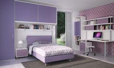 BADROOM - centri camerette specializzati in camere e camerette per ragazzi - Cameretta a ponte per ragazze con letto imbottito