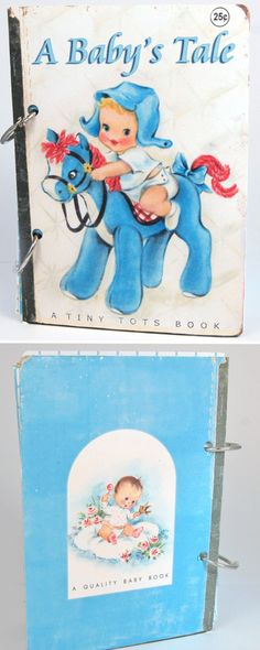 A Baby's Tale baby boy vintage style scrapbook by KBandFriends