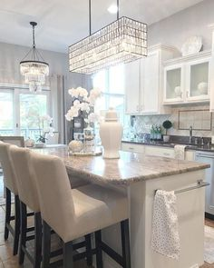 Home Interior 2019 Decor, Home Kitchens, Kitchen Lighting Fixtures, Kitchen Remodel, Kitchen Design, Interior, Home Decor Kitchen, Home Decor, House Interior