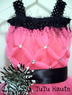 tHIS WILL MAKE A STATEMENT! :)  Party Princess//  Hot Pink and Zebra Tutu by TuTuHauteBoutique, $64.95