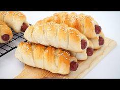 Sausage Bread Rolls Recipe - YouTube Roll Dough Recipe, Bread Dough Recipe, Best Bread Recipe, Rolls Recipe, Bread Recipes, Cooking Recipes, Recipe Recipe, Dutch Recipes, Apple Recipes