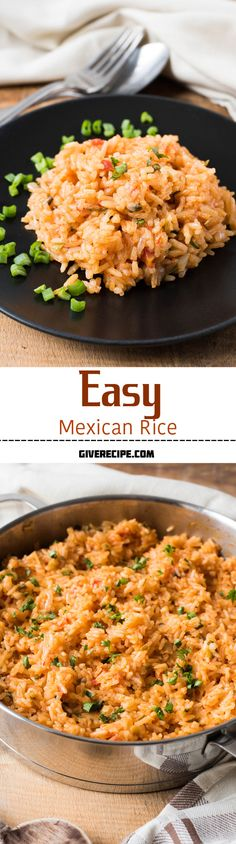 Easy Mexican Rice is a restaurant style Mexican food with my touch. Easy Mexican Rice is a restaurant style Mexican food with my touch. Maybe even b… Easy Mexican R Vegetarian Mexican Recipes, Mexican Chicken Recipes, Mexican Dishes, Mexican Easy, Mexican Desserts, Shrimp Recipes, Yummy Recipes, Dinner Recipes, Cooking Recipes