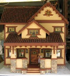 Handmade, Craftsman Style dollhouse with furniture (eBay $5,000.00)