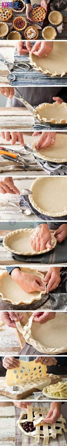 Cool, decorative pie crust