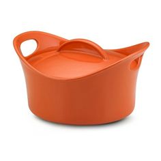 Rachael Ray Bubble and Brown 2.75 Qt. Round Covered Casserole in Orange - 55219