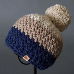 Crochet PATTERN Rainer Beanie Crochet Hat por PrettyDarnAdorable