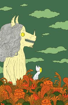 Homage to Maurice Sendak by Michael DeForge for The Comics Journal.