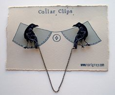 Crow Collar Clips - inspired by The Knights Watch from Game of Thrones