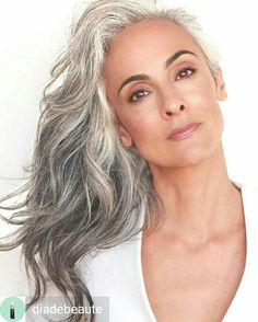 Hair Ideas For The Ladies.Creative ideas with regard to awesome looking hair. Your own hair is certainly just what can easily define you as a person. To many people today it is usually vital to have a very good hair do. Hairstyle Ideas For Long Hair. Long Gray Hair, Grey Wig, Silver Grey Hair Gray Hairstyles, Silver Fox Hair, Grey Hair Over 50, Long Silver Hair, Pelo Color Plata, Grey Hair Inspiration, Natural Hair Styles