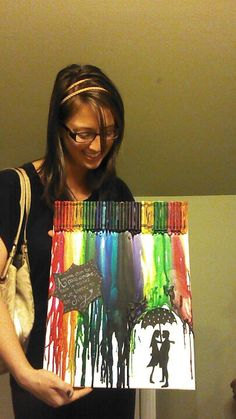 Birthday present for my best friend! Crayon art :)