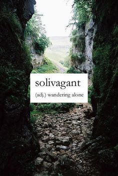 What would make this wandering perfect is finding an ocean waiting on the other side. Solivagant -- wandering alone
