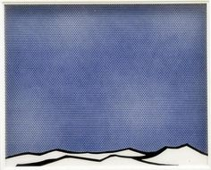 roy lichtenstein. that pale blue.