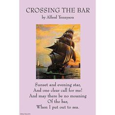 "Buyenlarge 'Crossing the Bar' by Alfred Lord Tennyson Vintage Advertisement Size: 66"" H x 44"" W"