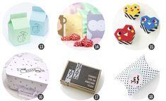 Imprimibles gratis: 18 plantillas de cajitas de regalo (II) en blog.cosasmolonas.com