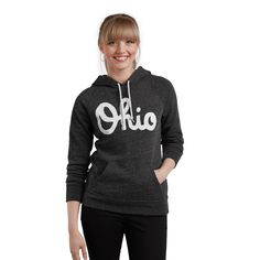 Keep warm with this classic sweatshirt from HOMAGE. The vintage Ohio hoodie is…