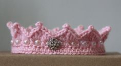 Hey, I found this really awesome Etsy listing at https://www.etsy.com/listing/112086869/crochet-pink-princess-crown-pdf-pattern