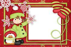 Cute Christmas: Free Printable Invitations or Cards. Christmas Boarders, Christmas Bird, Christmas Frames, Christmas Stickers, Christmas Clipart, Very Merry Christmas, Christmas Paper, Winter Christmas, Vintage Christmas