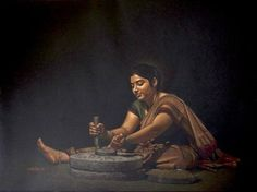 15 Stunningly Realistic Paintings by Shri Shashikant Dhotre Indian Art Paintings, Art Folder, India Art, Indian Artist, Realistic Paintings, Human Art, Beautiful Paintings, Art Pictures, Female Art