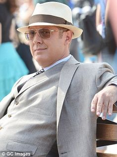 James Spader New TV Show | James Spader is dapper in three piece suit and fedora as he films new ...