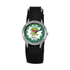 Disney's The Muppets Kermit the Frog KIds' Time Teacher Watch, Boy's, Black Cute Quotes For Kids, Learn To Tell Time, Boys Watches, Kermit The Frog, Disney Pixar Cars, Lightning Mcqueen, Incredible Hulk, Stainless Steel Watch, Disney Trips