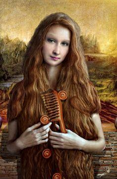 Gioconda total hairstyle / visual metaphor