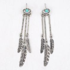 Bohemian Feather Plume Earrings