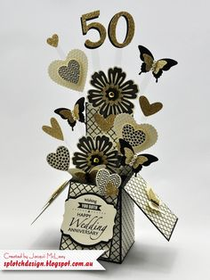 Splotch Design - Jacquii McLeay - Stampin Up - Wedding Anniversary Card in a Box