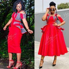 African Wedding Dress, Latest African Fashion Dresses, Pakistani Bridal Dresses, African Dresses For Women, Pedi Traditional Attire, Traditional Dresses, Xhosa Attire, African Attire, Red Peplum Dresses