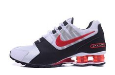 new styles abd8e 01564 Mens Nike Shox NZ Avenue White Black Red Footwear