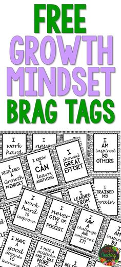 FREE GROWTH MINDSET BRAG TAGS for your classroom! Use them to motivate and promote positive thinking! #bragtags #growthmindset #islaheartsteaching #free #rewards #school #classroomincentives