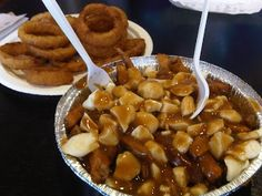 Saturday we made the trek out to Davie St. for some La Belle Patate. They have a small, medium and large size for poutine, which is immensel. Poutine, Number Two, Vancouver, Vegetables, Food, Recipes, Veggies, Vegetable Recipes, Meals