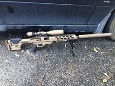 """20"""" Remington 700 SPS in 308. Cerakote on MDT chassis and suppressor done at Greystone Guns in Leeston, New Zealand. PRS stock and Falcon Menace scope airbrushed by a friend of mine."""