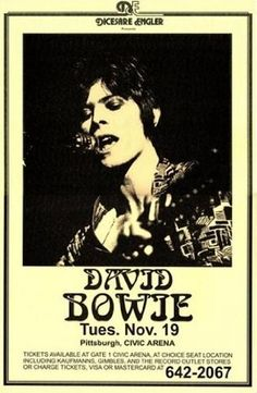 David Bowie Civic Arena Spiders From Mars Starman Rare Very Limited Concert Poster Print Only One Gig Poster, Poster Prints, Art Print, Print Ads, Tour Posters, Band Posters, Movie Posters, Vintage Concert Posters, Vintage Posters