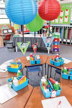 Create a cheery classroom with brightly colored paper lanterns!