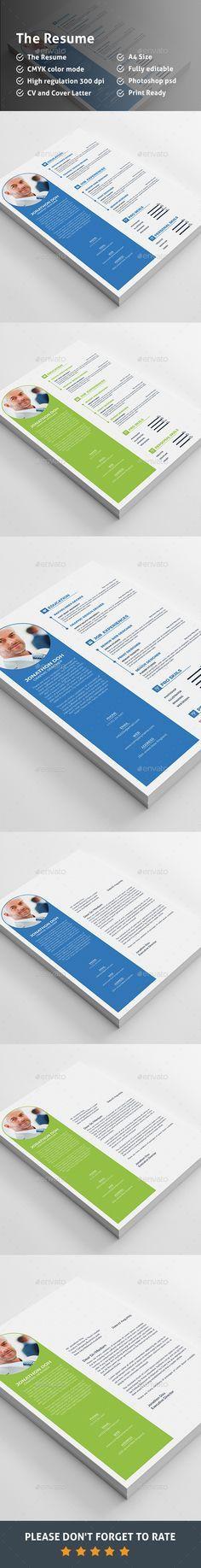 CV Resume Template Download here   graphicrivernet/item/cv - resume download
